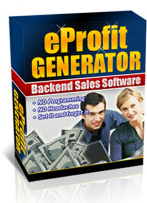 Product picture eProfit Generator Software -  with Private Label Rights!