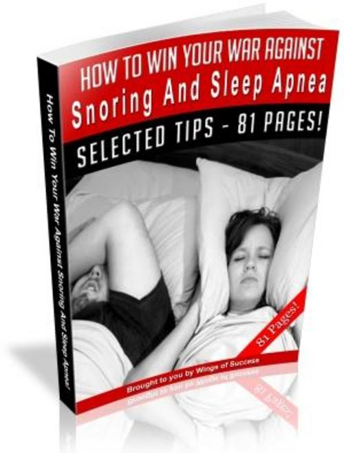 Product picture How To Stop Snoring eBook - #1 BestSeller