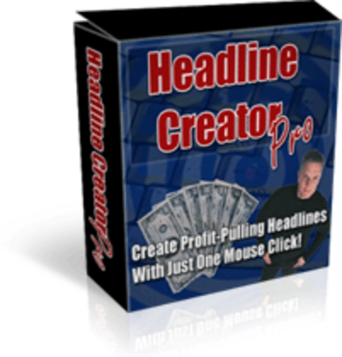 Product picture #1 Selling - Headline Creator Software!