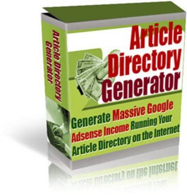 Product picture *NEW*  Article Directory Generator (Very Powerful!)
