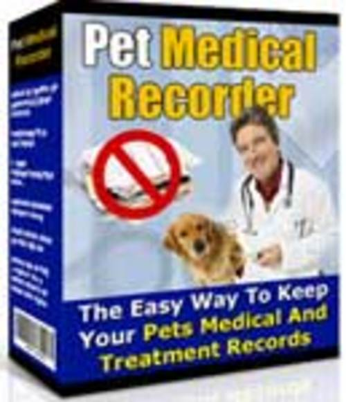 Product picture Pet Medical Recorder Software - 2017!!